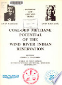 Coal bed Methane Potential of the Wind River Indian Reservation Book