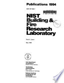 Building and Fire Research Laboratory Publications