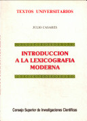 Introducción a la lexicografía moderna
