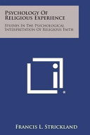 Psychology of Religious Experience Book