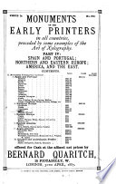 Monuments of the Early Printers