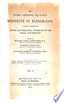 The Oxford  Cambridge and Dublin messenger of mathematics Book