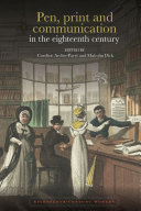 Pen  print and communication in the eighteenth century
