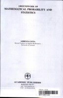 Groundwork of Mathematical Probability and Statistics