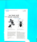 Pea  Bean and Clover Weevils Book