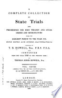 Cobbett S Complete Collection Of State Trials And Proceedings For High Treason PDF