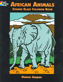 African Animals Stained Glass Coloring Book
