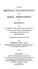 Pdf On the Mental Illumination and Moral Improvement of Mankind