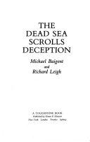 Dead Sea Scrolls Deception Book