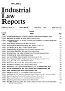 Industrial Law Reports