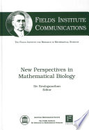 New Perspectives in Mathematical Biology Book