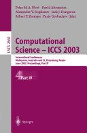 Computational Science   ICCS 2003  Part 4
