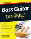 Bass Guitar For Dummies Book Online Video Audio Instruction