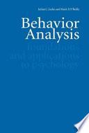 Behavior Analysis