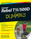 Read Online Canon EOS Rebel T1i / 500D For Dummies For Free