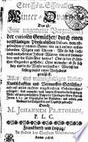 Storchs u. Schwalben Winter-Qvartier