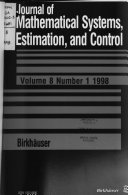 Journal of Mathematical Systems  Estimation  and Control