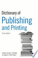 Dictionary Of Publishing And Printing Book PDF