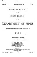 Pdf Summary Report of Mines Branch Investigations ...
