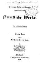 Johann Heinrich Jung's, genannt Stilling, sämmtliche Werke: Das Heimweh (1-3. Theil)