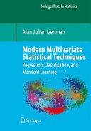 Modern Multivariate Statistical Techniques [Pdf/ePub] eBook