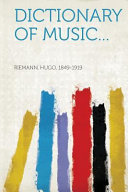 Dictionary of Music (Classic Reprint)