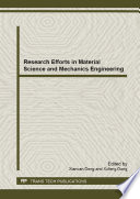 Research Efforts in Material Science and Mechanics Engineering Book