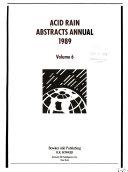 Acid Rain Abstracts Annual 1989