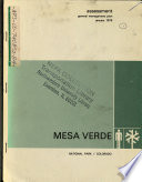 Mesa Verde National Park N P Proposed Wilderness