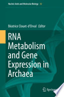 RNA Metabolism and Gene Expression in Archaea