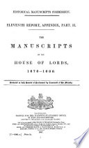 The Manuscripts of the House of Lords, 1678-1688