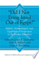 Did I Not Bring Israel Out of Egypt