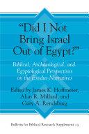 """Did I Not Bring Israel Out of Egypt?"" Pdf/ePub eBook"