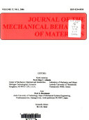 Journal of the Mechanical Behavior of Materials