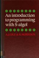An Introduction to Programming with S-algol
