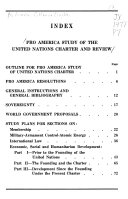 Pro America Study of the United Nations Charter and Review