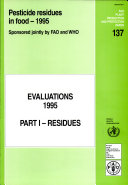 Pesticide Residues in Food 1995