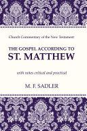 Pdf The Gospel According to St. Matthew