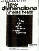 New Dimensions in Mental Health