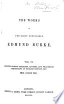 The Works of the R.H. Edmund Burke