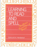 Learning to Read and Spell