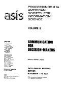 Proceedings of the American Society for Information Science