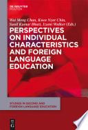 Perspectives on Individual Characteristics and Foreign Language Education