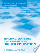 Teaching  Learning and Research in Higher Education Book