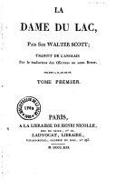 La dame du lac, suivi de : Les fiancailles de Triemain ou la vallée de Saint Jean