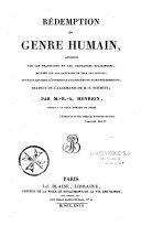 La rédemption du genre humain, annoncée par les traditions et les croyances religieuses