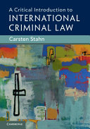Pdf A Critical Introduction to International Criminal Law