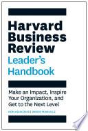 The Harvard Business Review Leader s Handbook