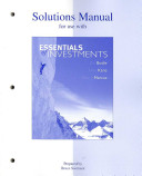 Solutions Manual for Use with Essentials of Investments  Sixth Edition Book