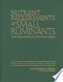 Nutrient Requirements of Small Ruminants Book